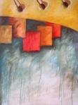 Espacios polifonicos, 2006, Acrilico sobre canvas, 30x40