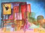 Fragmento de la memoria I, 2007, Acrilico sobre canvas, 12x16