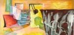 Fragmentos de la memoria II, 2007, Acrilico sobre canvas, 12x24